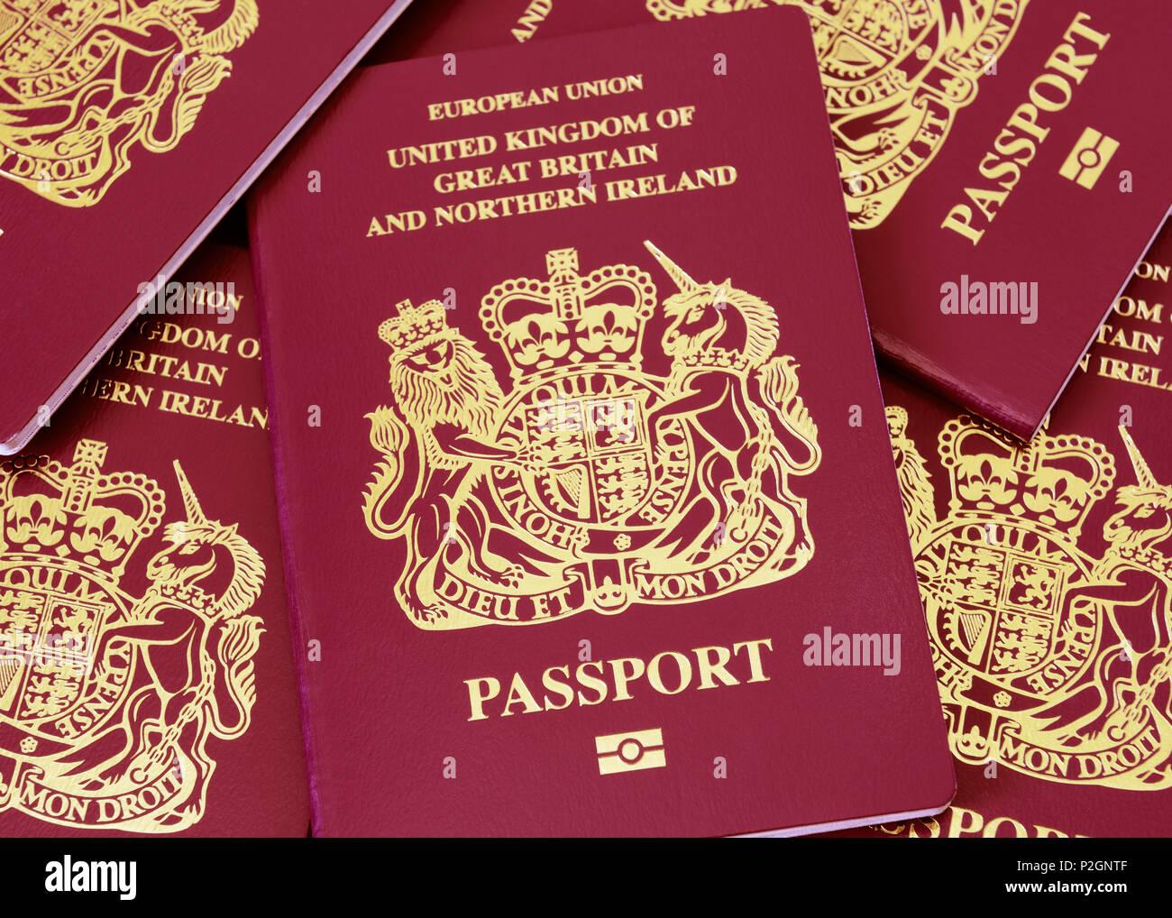 Britischer Pass Stockbild