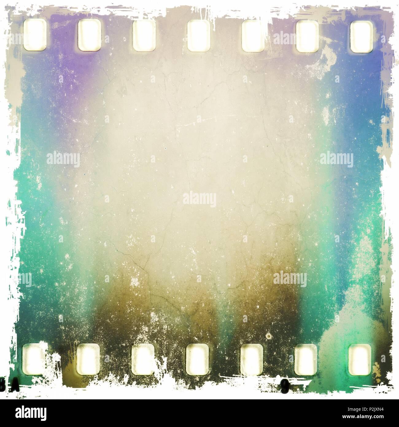 Blue Background Color Filmstrip Stockfotos & Blue Background Color ...