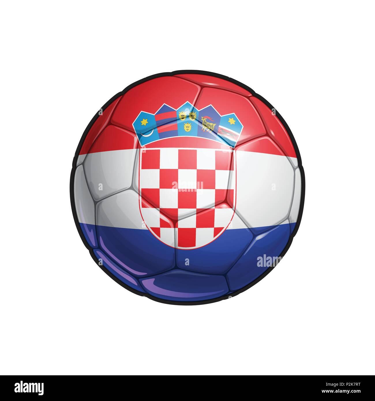 Vector Illustration eines Fußball - Fußball mit der kroatischen ...