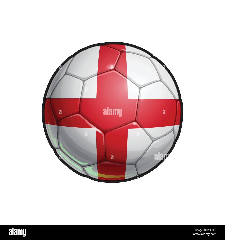 Vector Illustration eines Fußball - Fußball mit der englischen ...