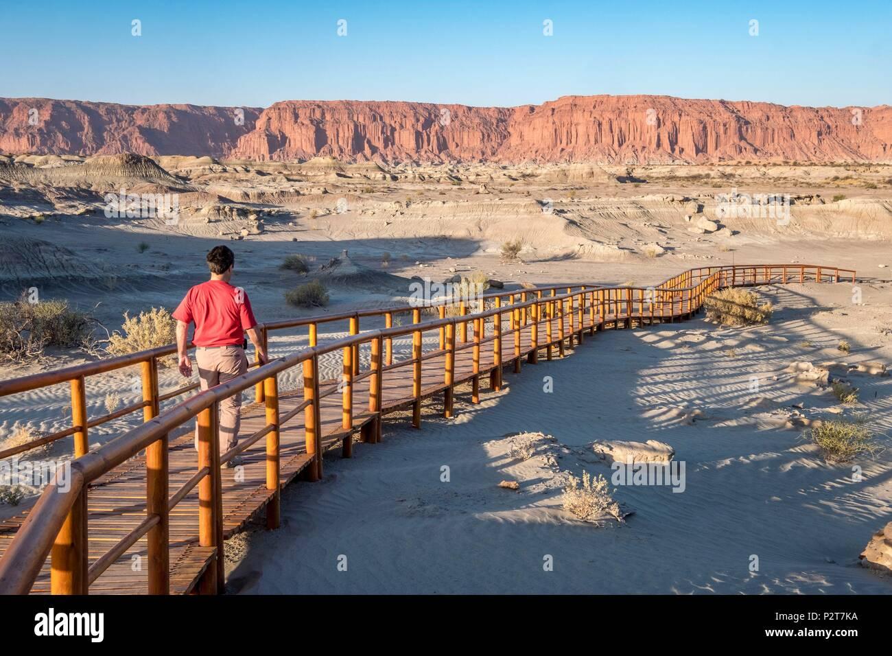 Argentinien, San Juan Provinz, Parque Ischigualasto als Weltkulturerbe von der UNESCO, Dr. William Sill Museum Stockbild