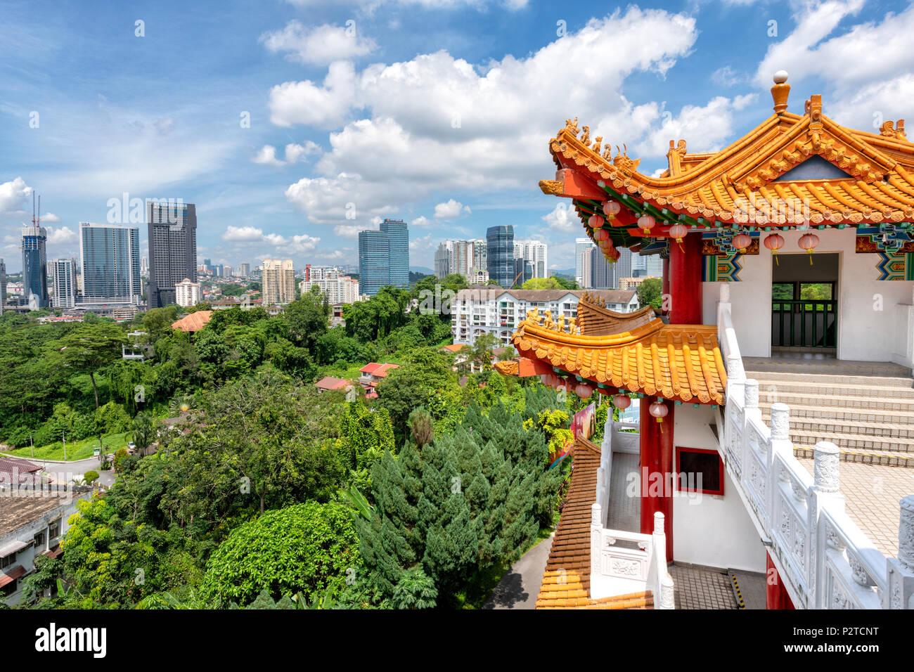 Die Thean Hou Tempel am Stadtrand von Kuala Lumpur, Malaysia Stockbild