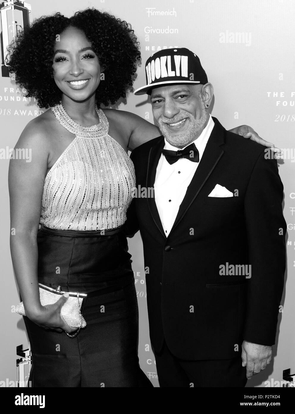 New York, NY - 12. Juni 2018: Tiff Benson und Carlos Powell besuchen 2018 Fragrance Foundation Awards in der Alice Tully Hall im Lincoln Center Stockbild