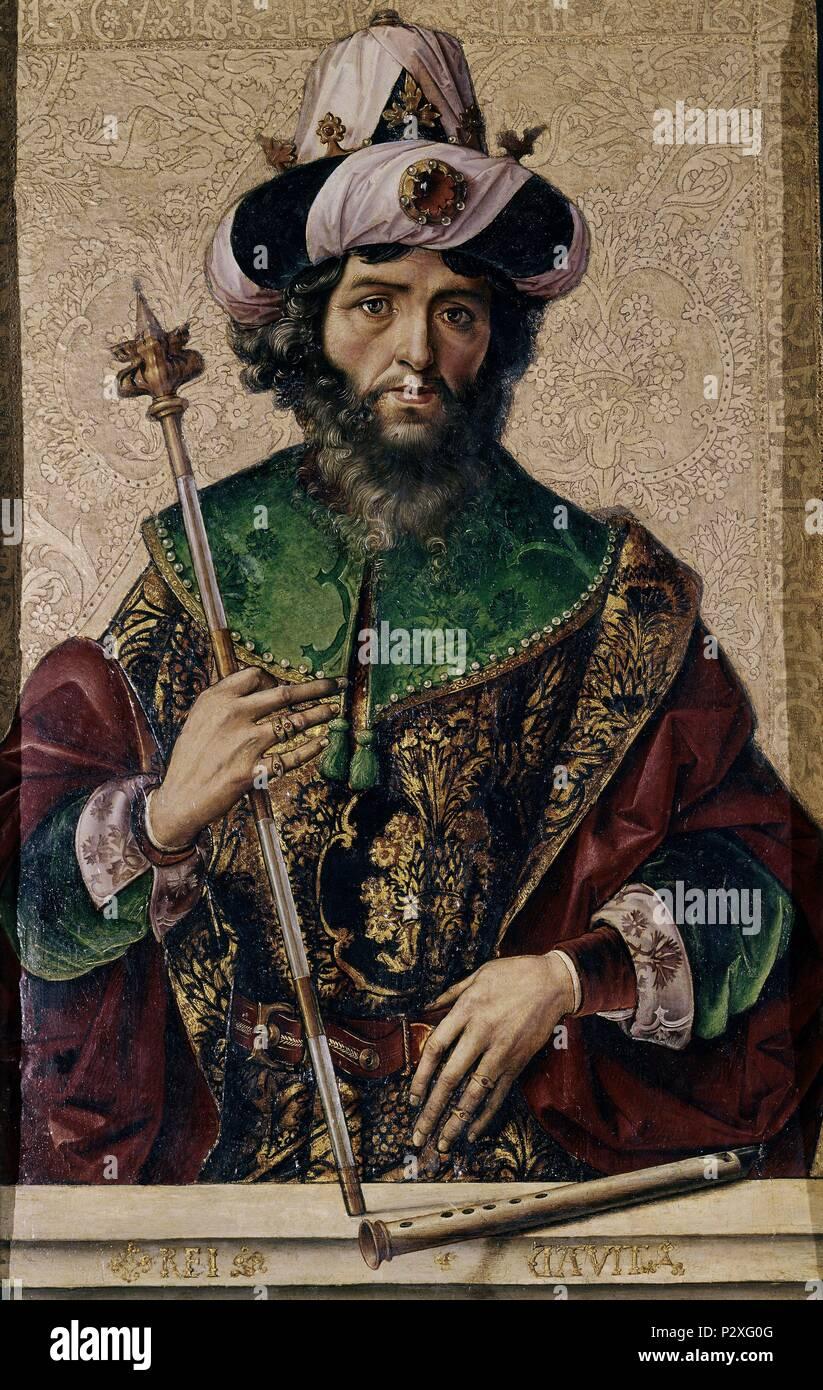 El Rey David Autor Pedro Berruguete 1450 1504 Lage Iglesia De