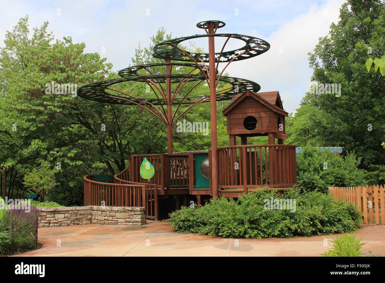 Baumhaus Einen Kinder Garten An Der Morton Arboretum In Lisle