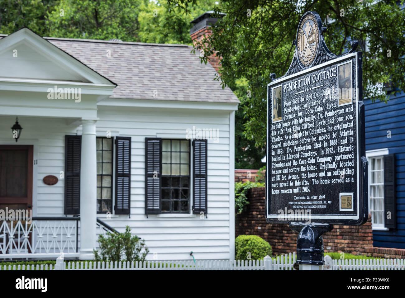 Historische Markierung Für Pemberton Cottage Das 19 Jahrhundert In