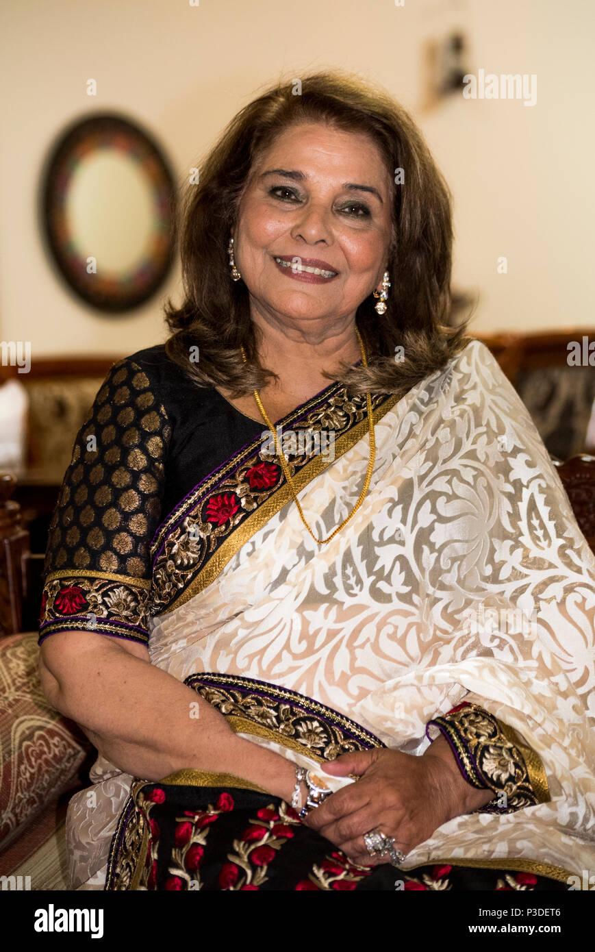Pakistanische Schauspielerin Uzma Gillani, Auckland, Neuseeland Stockbild