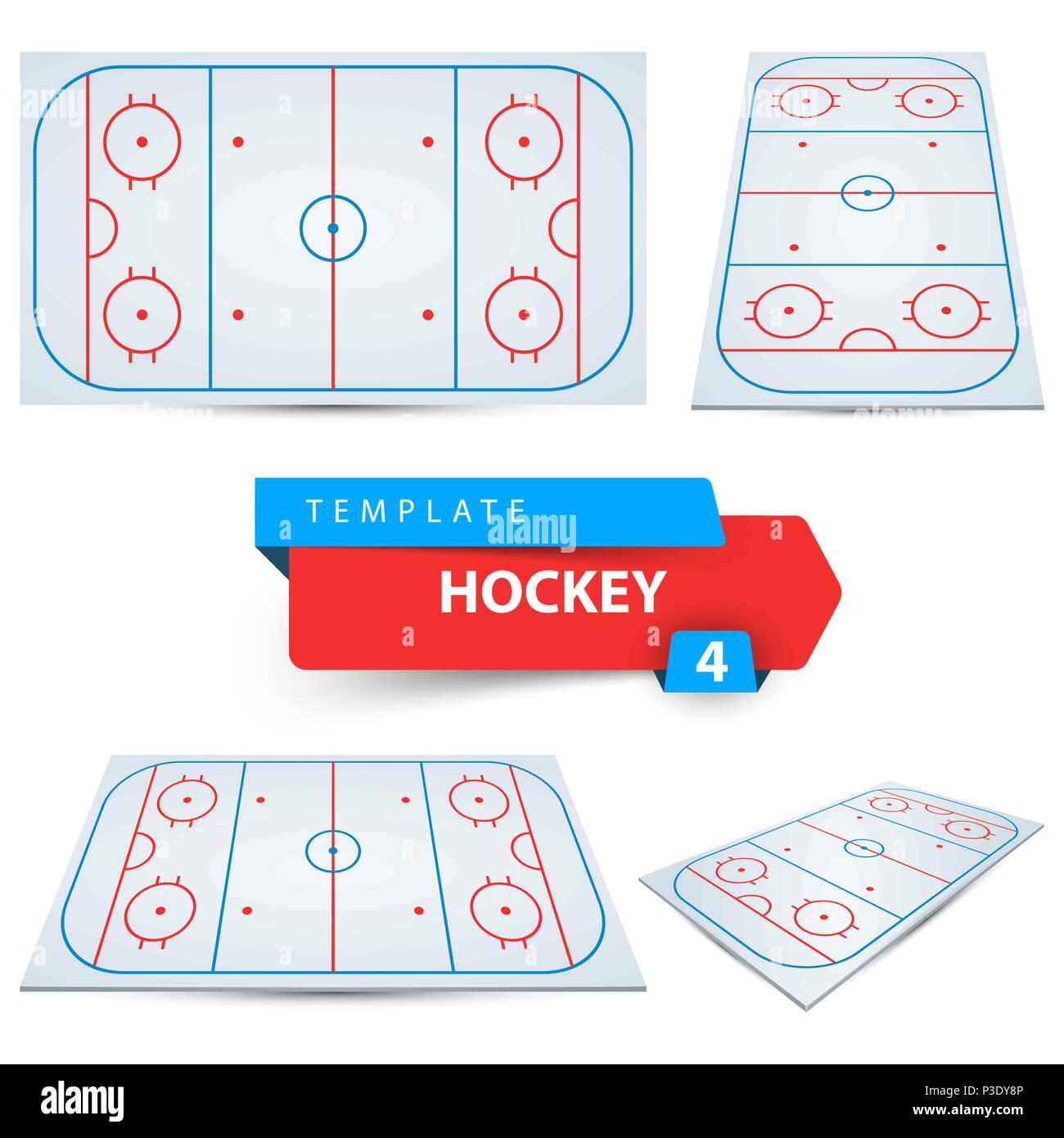 Hockey Gericht. Vier sport Vorlage Vektor Abbildung - Bild ...