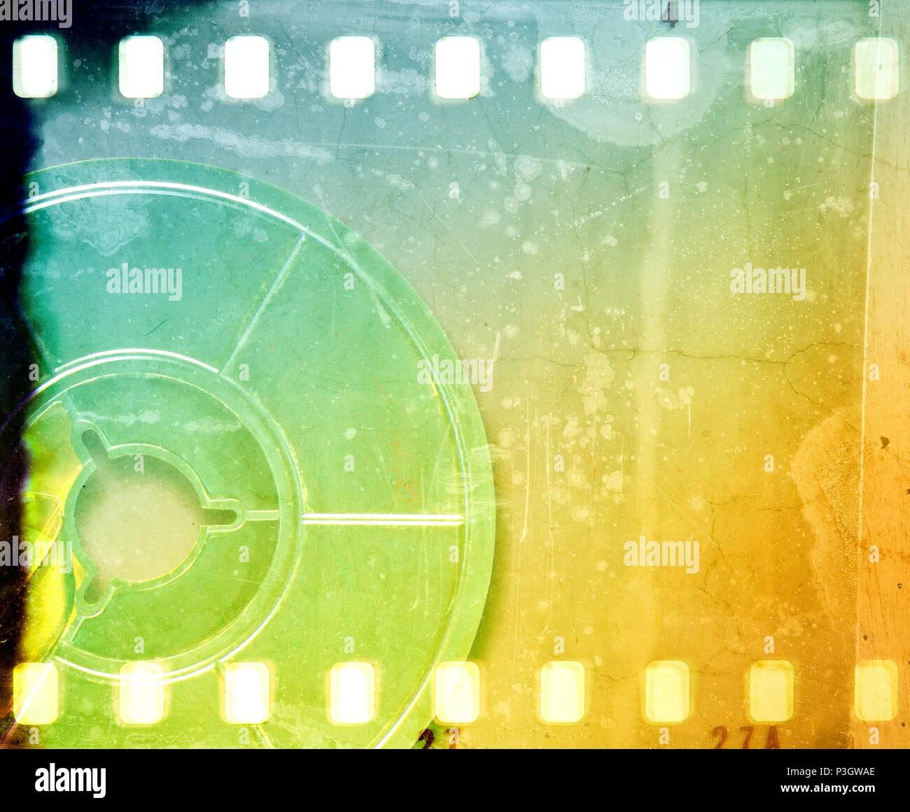Vintage Blue Metal Film Reel Stockfotos & Vintage Blue Metal Film ...