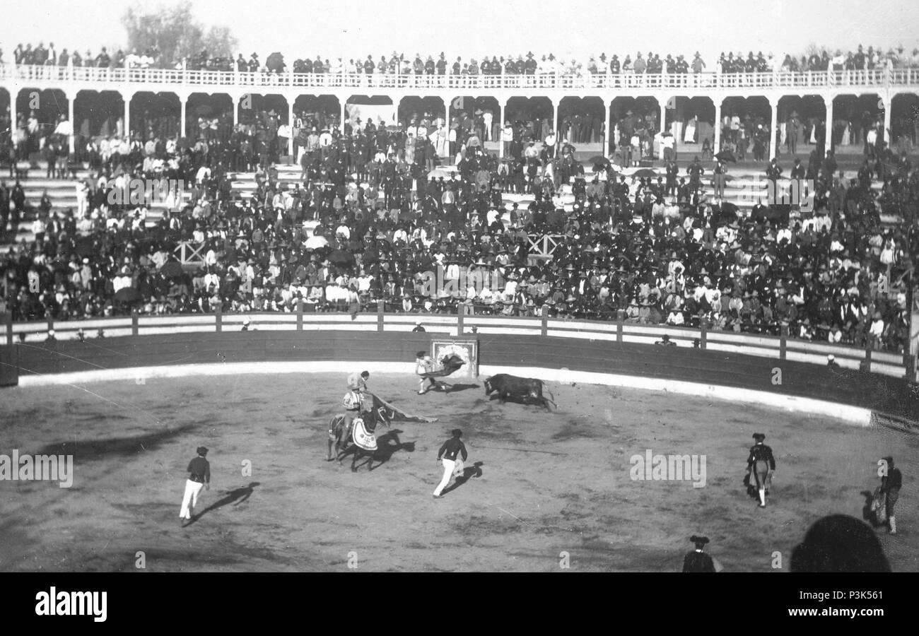 Stierkampf in Mexiko Stockbild