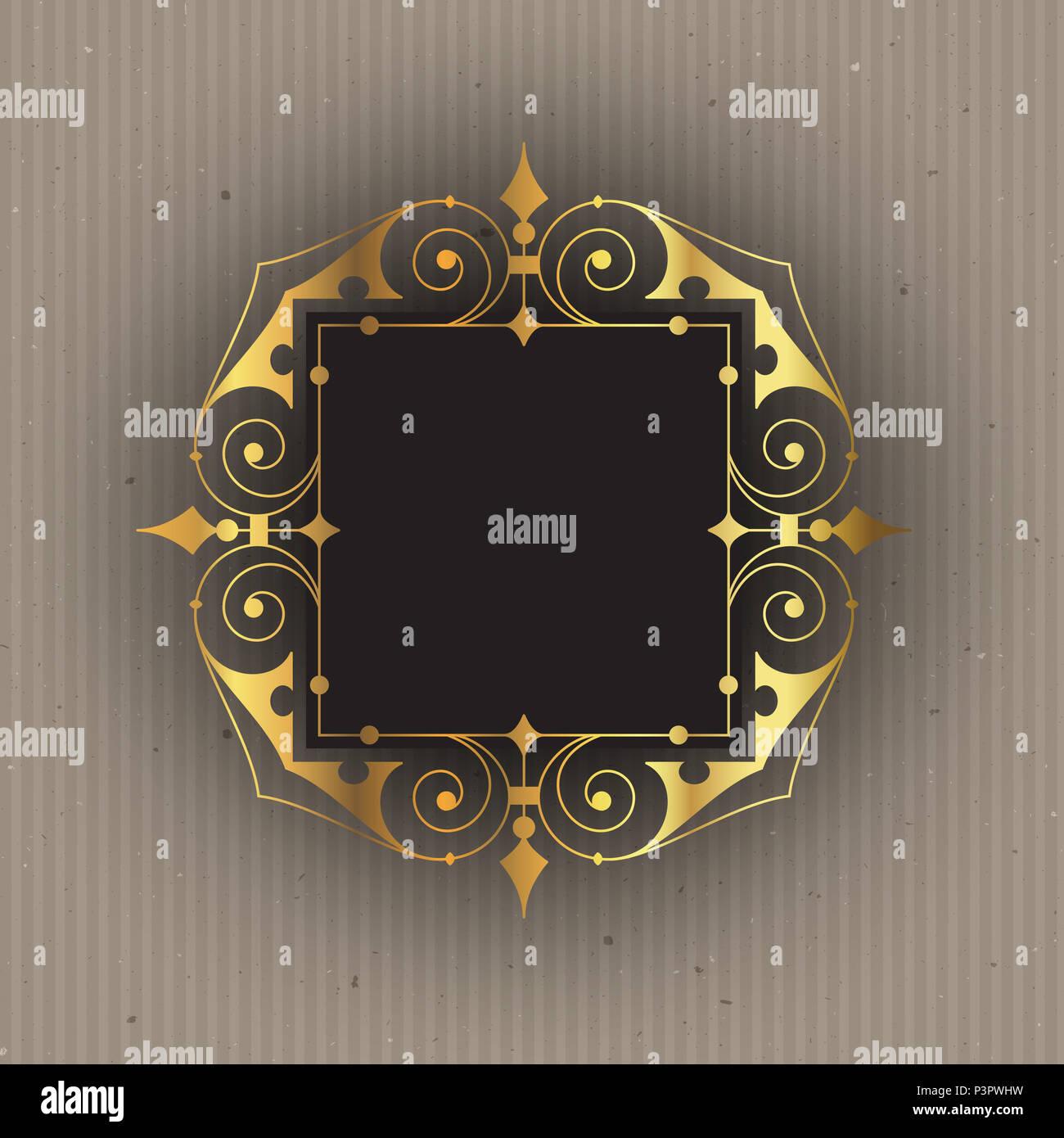 Dekorative Rahmen auf eine Pappe stil hintergrund Stockfoto, Bild ...
