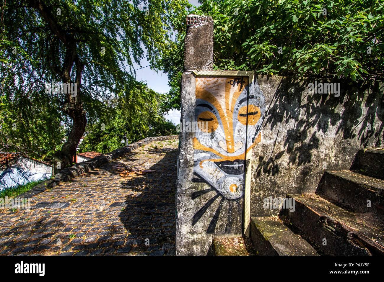 Olinda Pe Grafite Desenho Arte Escadas Rua De Olinda Muro