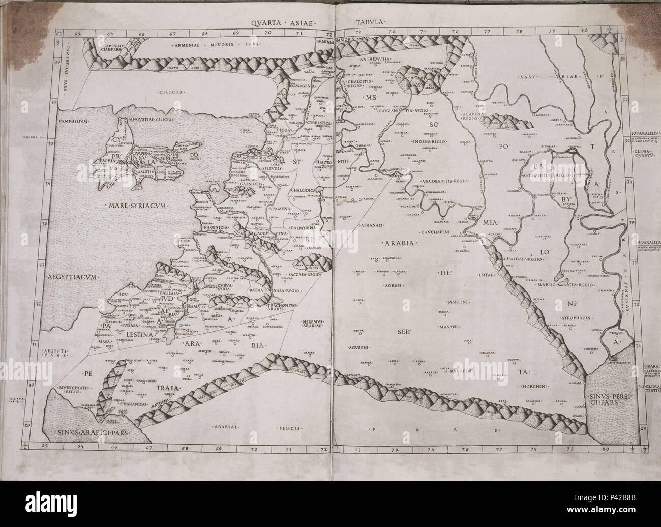 Mapa De Turquia Siria Y Arabien En El Siglo Ii Thema Claudius