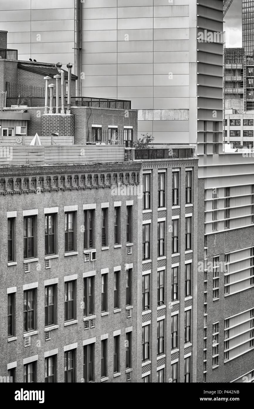 Schwarz-weiß Bild von New York City, USA. Stockbild
