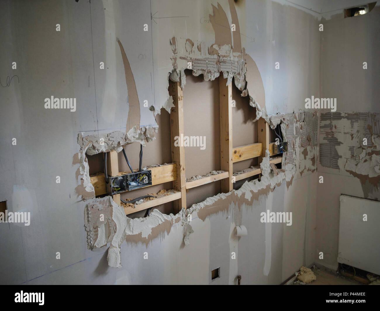 Plasterboard Walls Stockfotos & Plasterboard Walls Bilder - Alamy