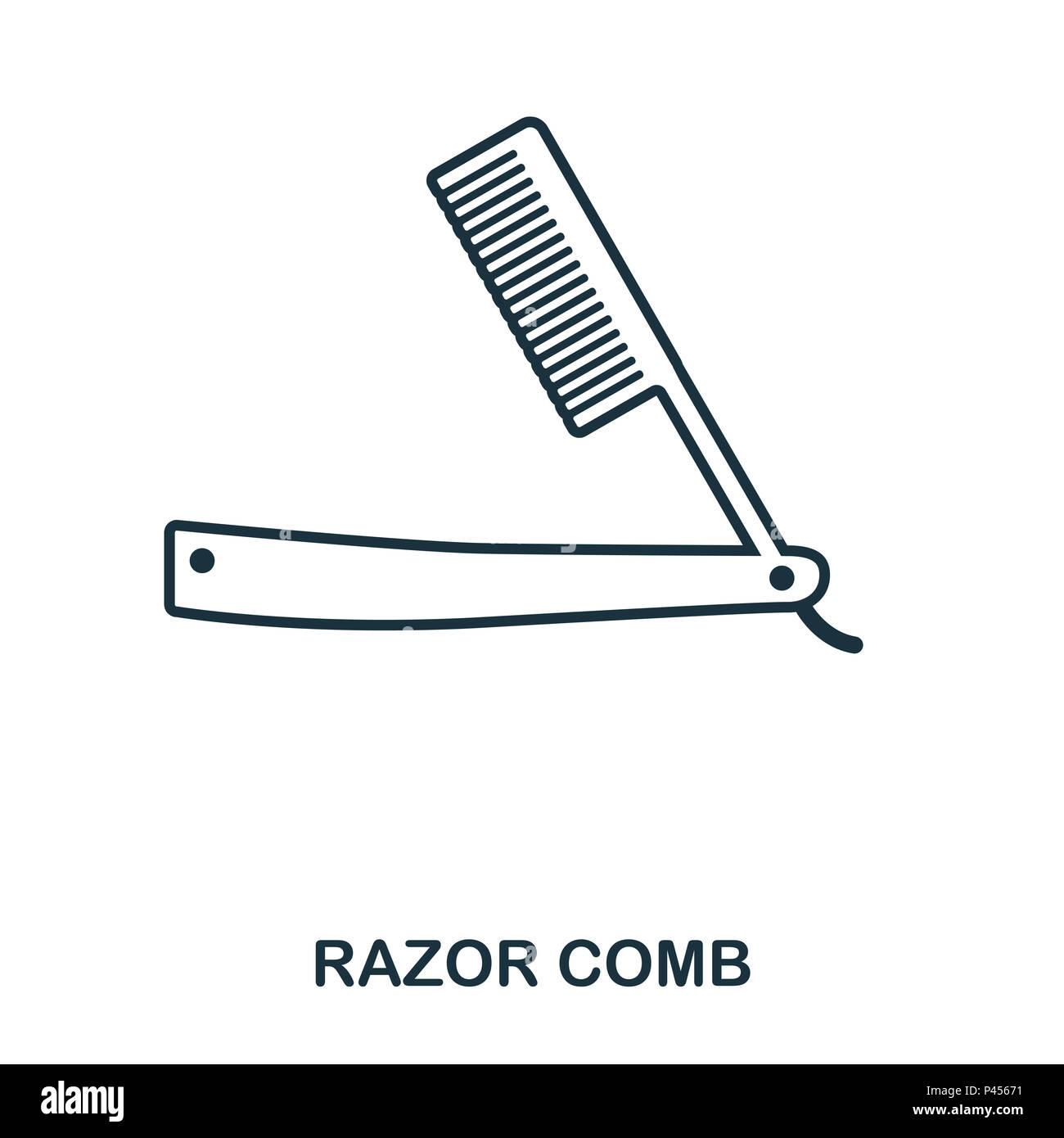 Rasiermesser Kamm Symbol. Flat Style Icon Design. UI. Abbildung ...
