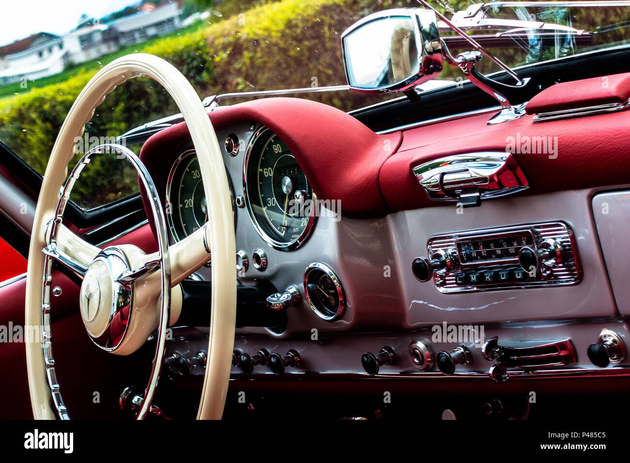 190 SL-Interieur Stockbild
