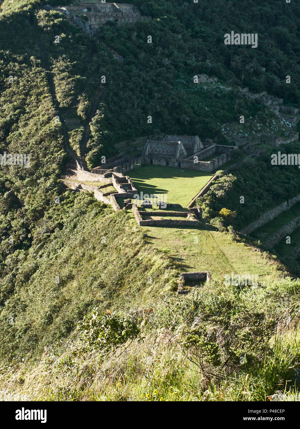 Choquequiroa verlorenen Inkastadt in den Anden in der Nähe von Cusco pruvian Stockbild