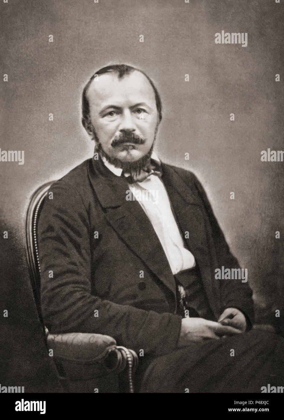 Gérard de Nerval, 1808 - 1855, Nom-de-plume Der französische Schriftsteller, Dichter, Essayist und Übersetzer Gérard Labrunie. Nach einer zeitgenössischen Print. Stockbild