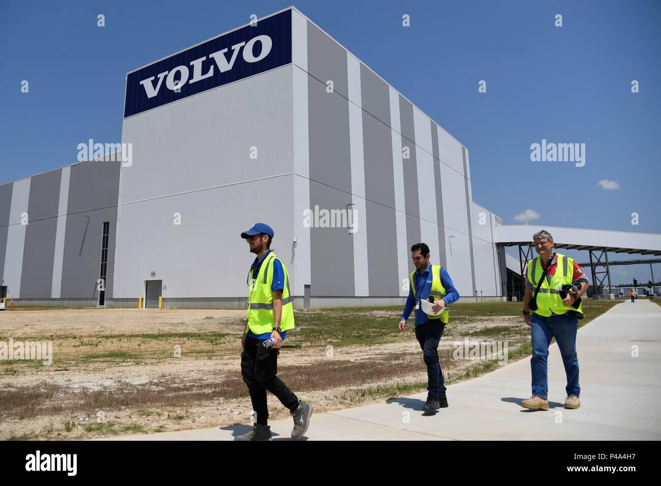 Charleston Usa 20 Juni 2018 Die Arbeiter Gehen Bei Volvo Cars Neues Werk In Charleston South