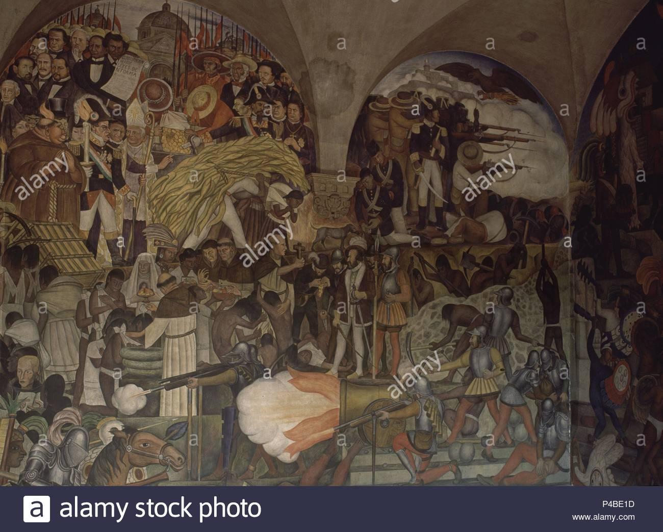Escalera Principal Murales De La Historia De Mexico Autor Diego