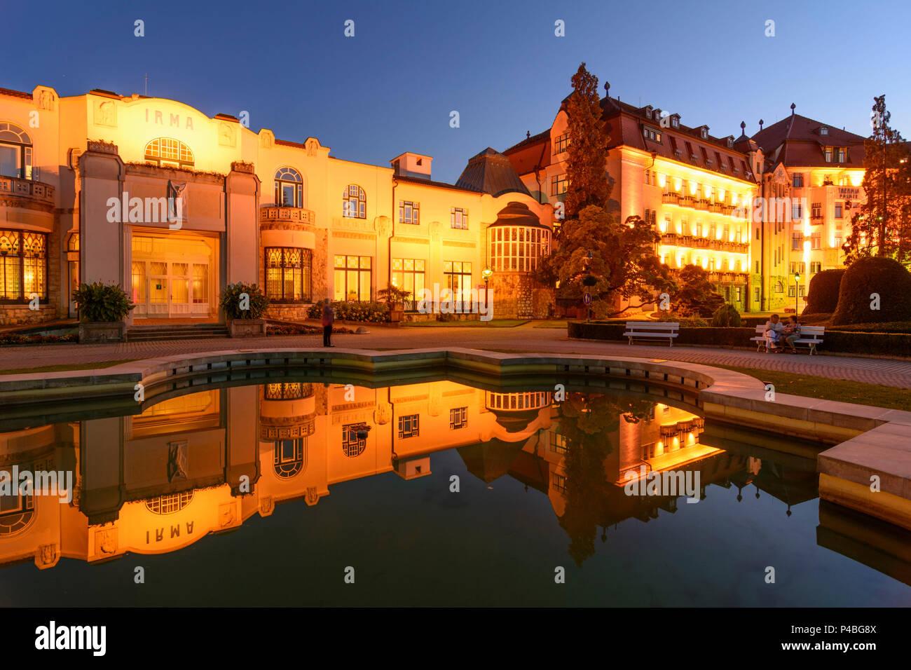 Piestany (pistyan), spa Irma, Hotel Thermia Palace, Slowakei Stockbild