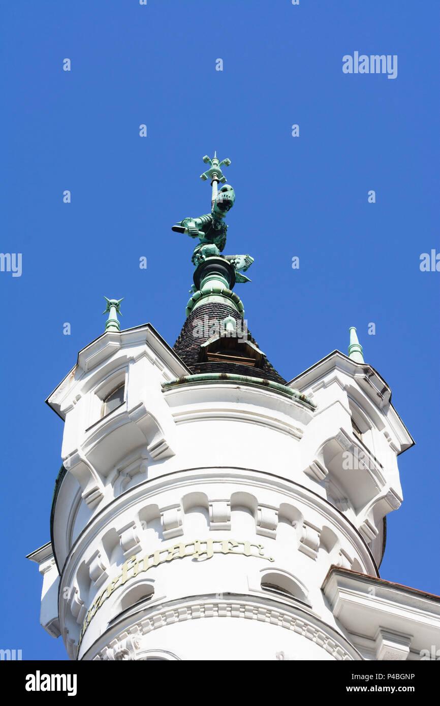Wien Dach Von Grunderzeithaus Mit Ritter 08 In Der Josefstadt