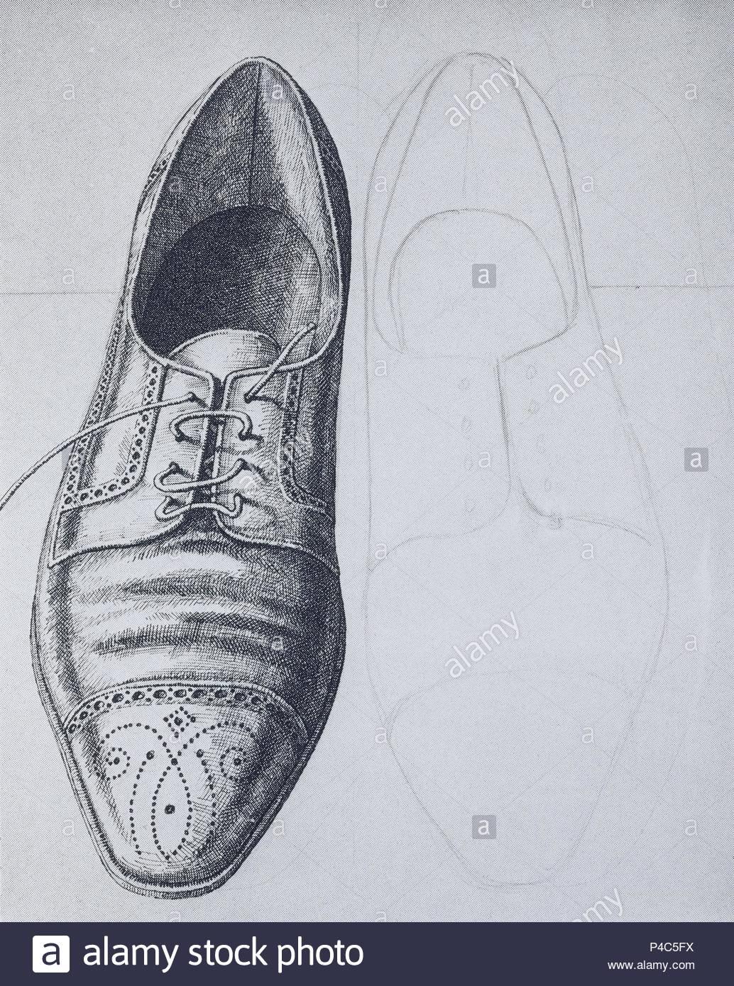 EL ZAPATO. Thema: Domenico Gnoli (1933 1970 Stockfoto, Bild