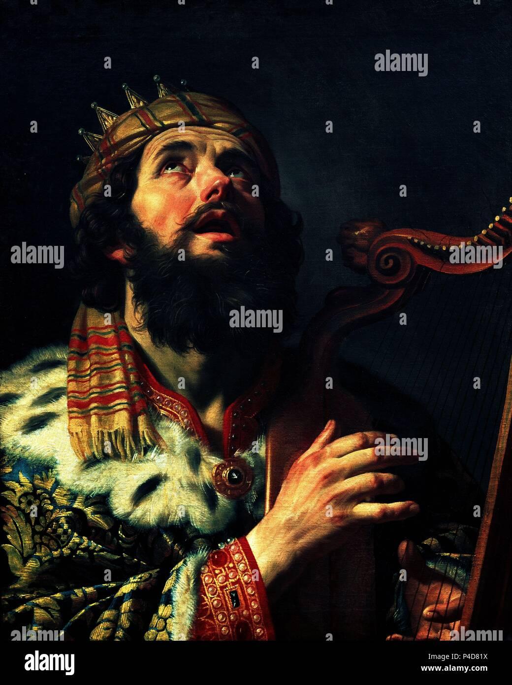 El Rey David Tocando El Arpa 1622 Lienzo 815 X 652 Cm Nºinv