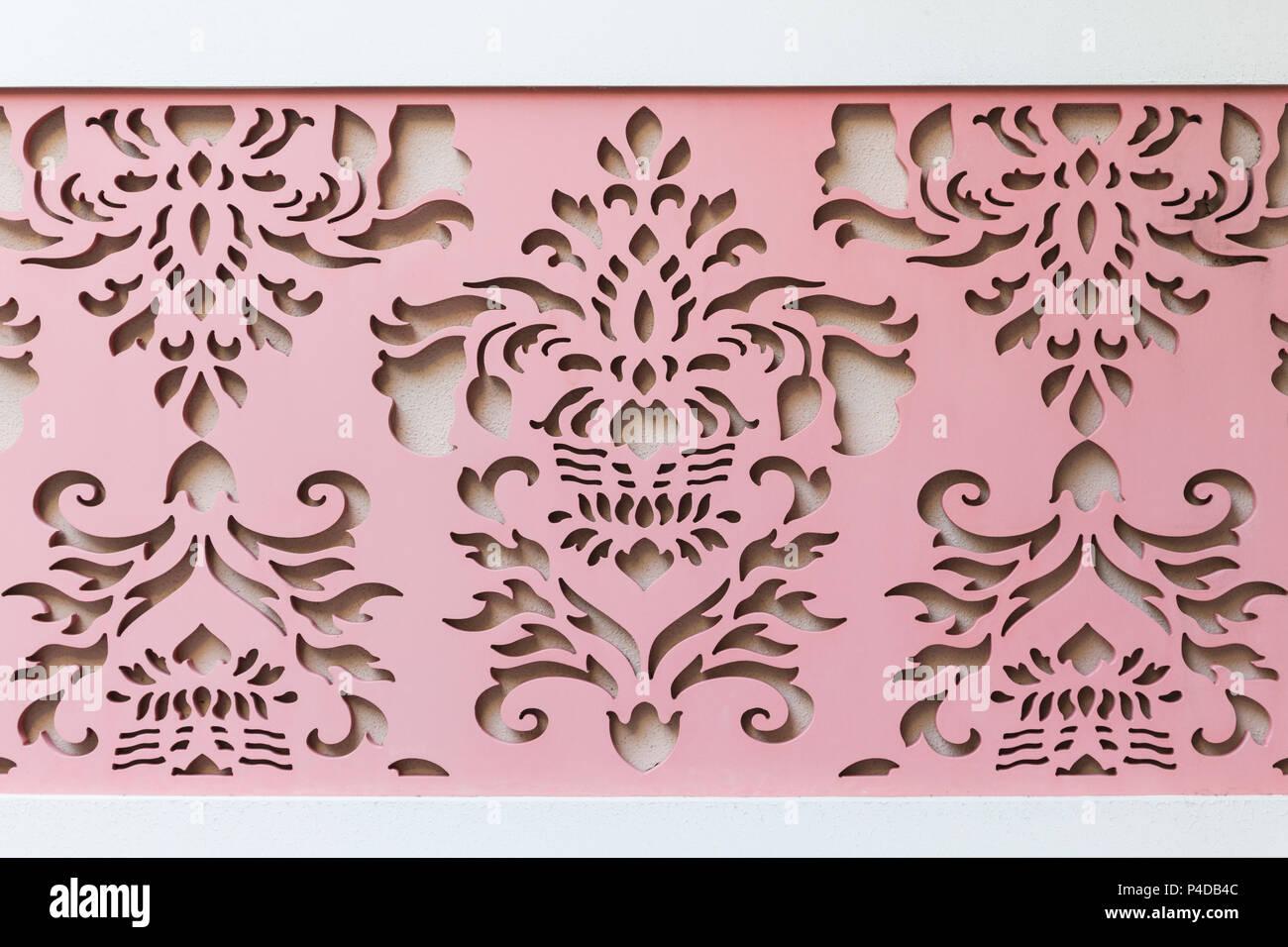 Kunst Rosa Holz Wand Hintergrund Asiatische Linie Stil Stockfoto