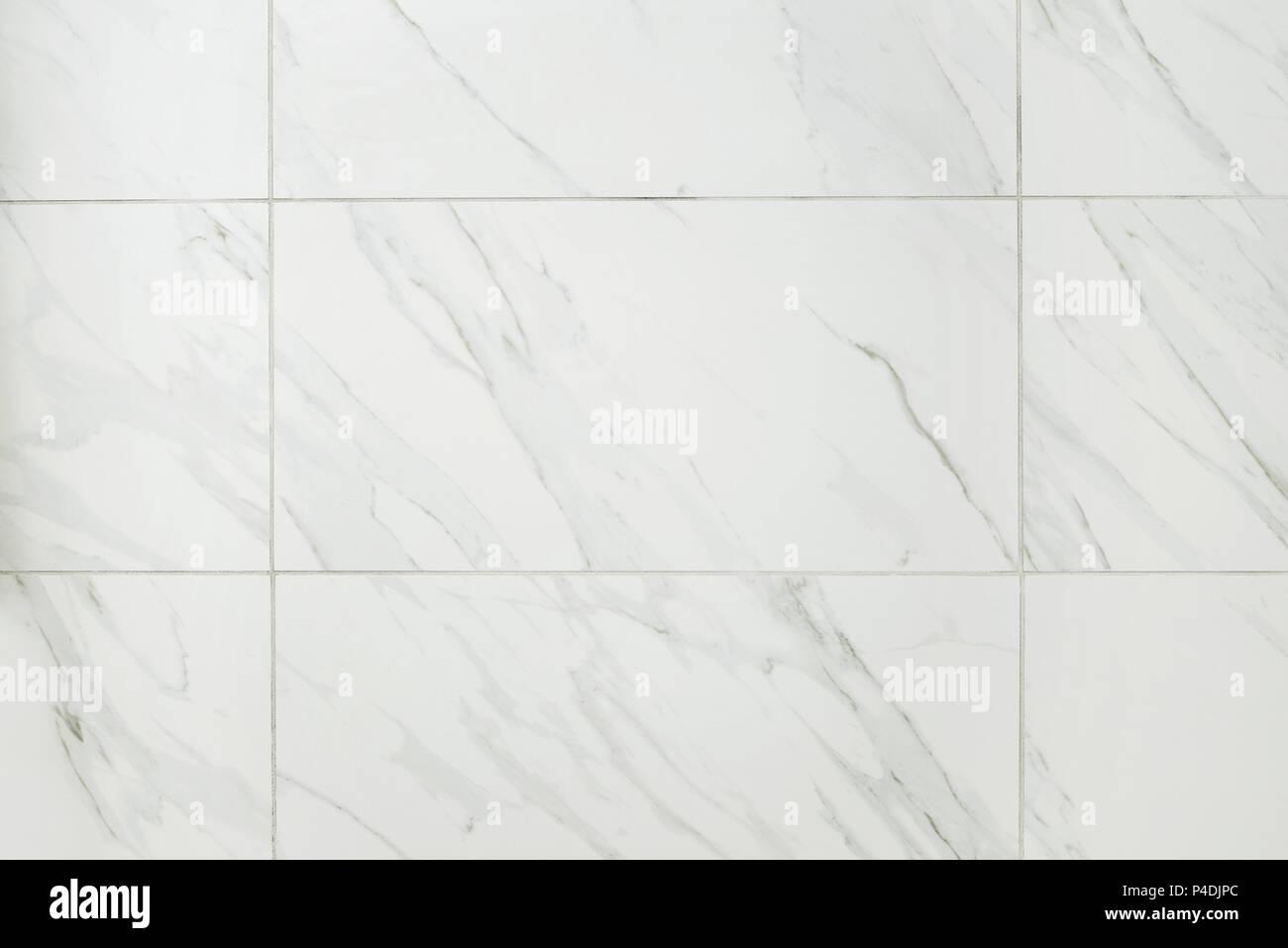Große Marmor Fliesen Badezimmer Wand Stockfoto, Bild ...
