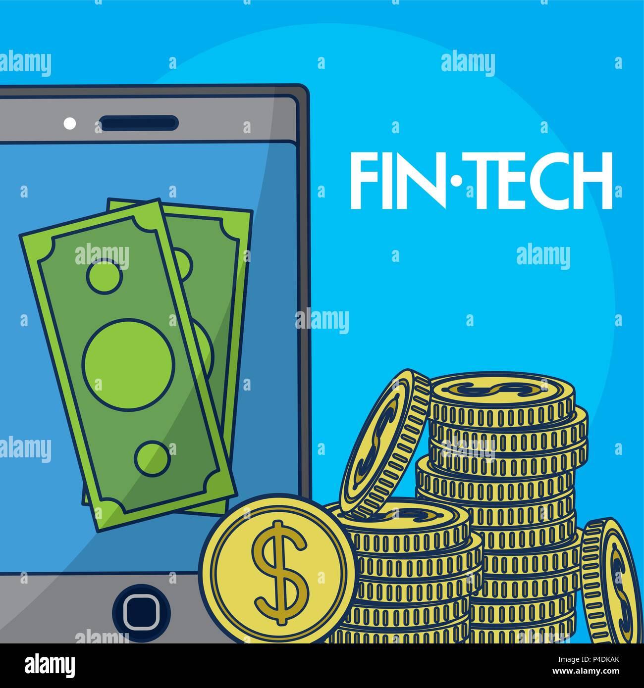 Finanzielle Technolgoy Konzept Stock Vektor