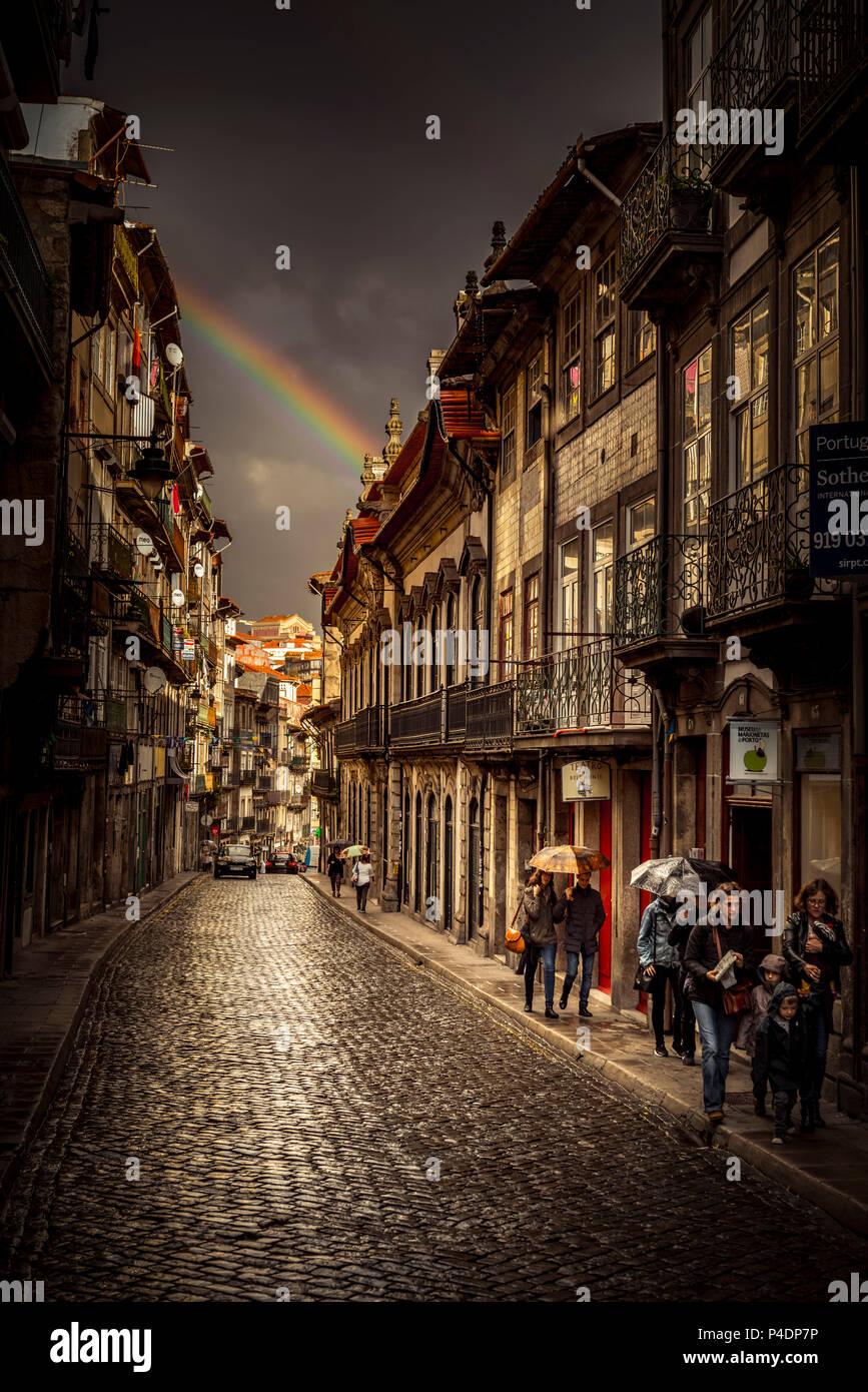 Europa, Portugal, Porto, Altstadt Stockbild