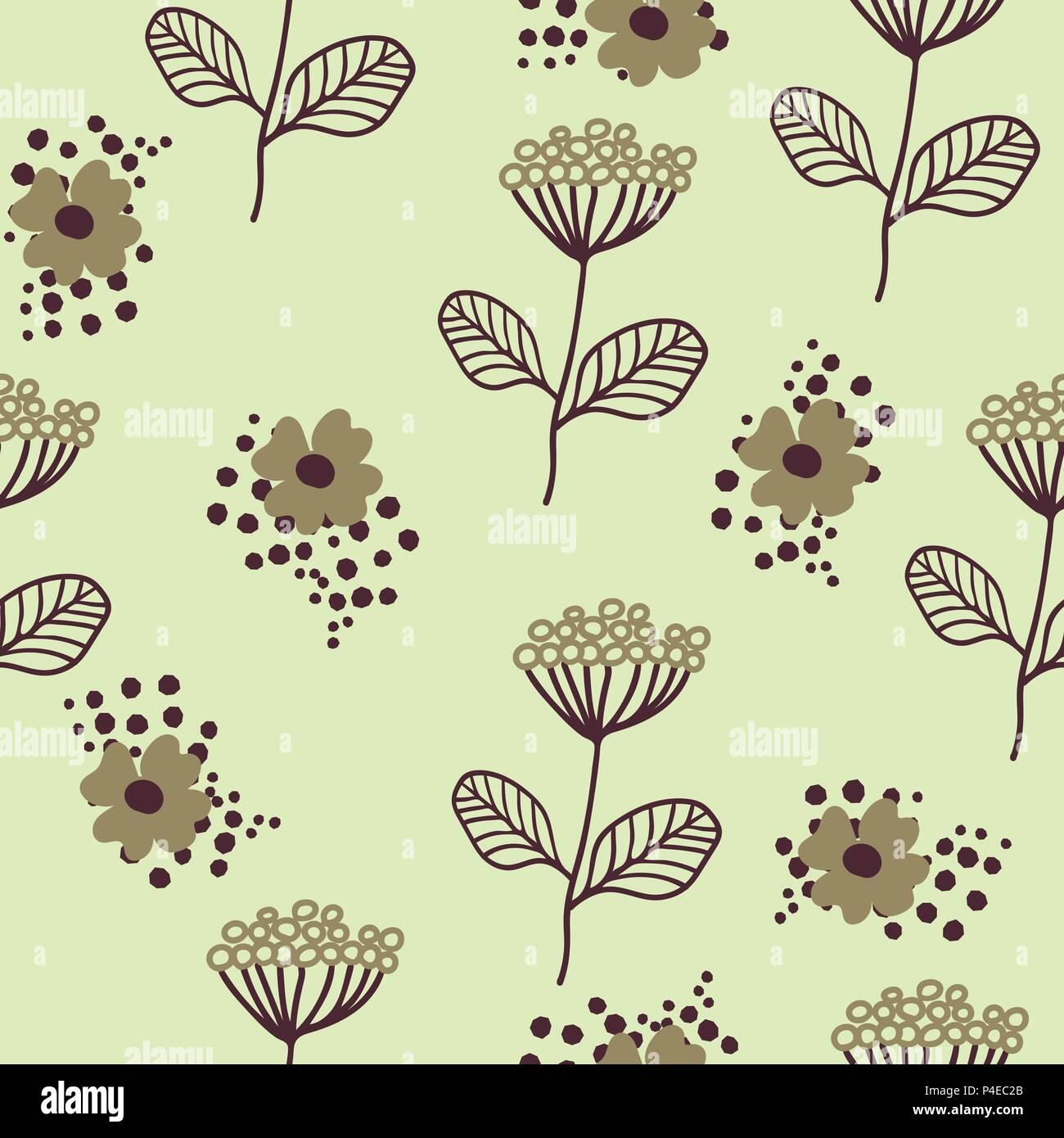 Nahtlose Muster Im Skandinavischen Stil Florar Muster Fur Das