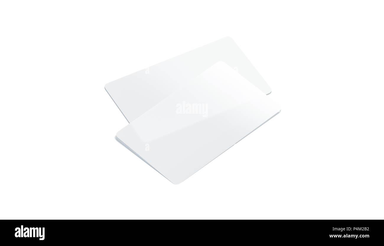 Leere Kunststoff Transparente Visitenkarten Mockup Isoliert
