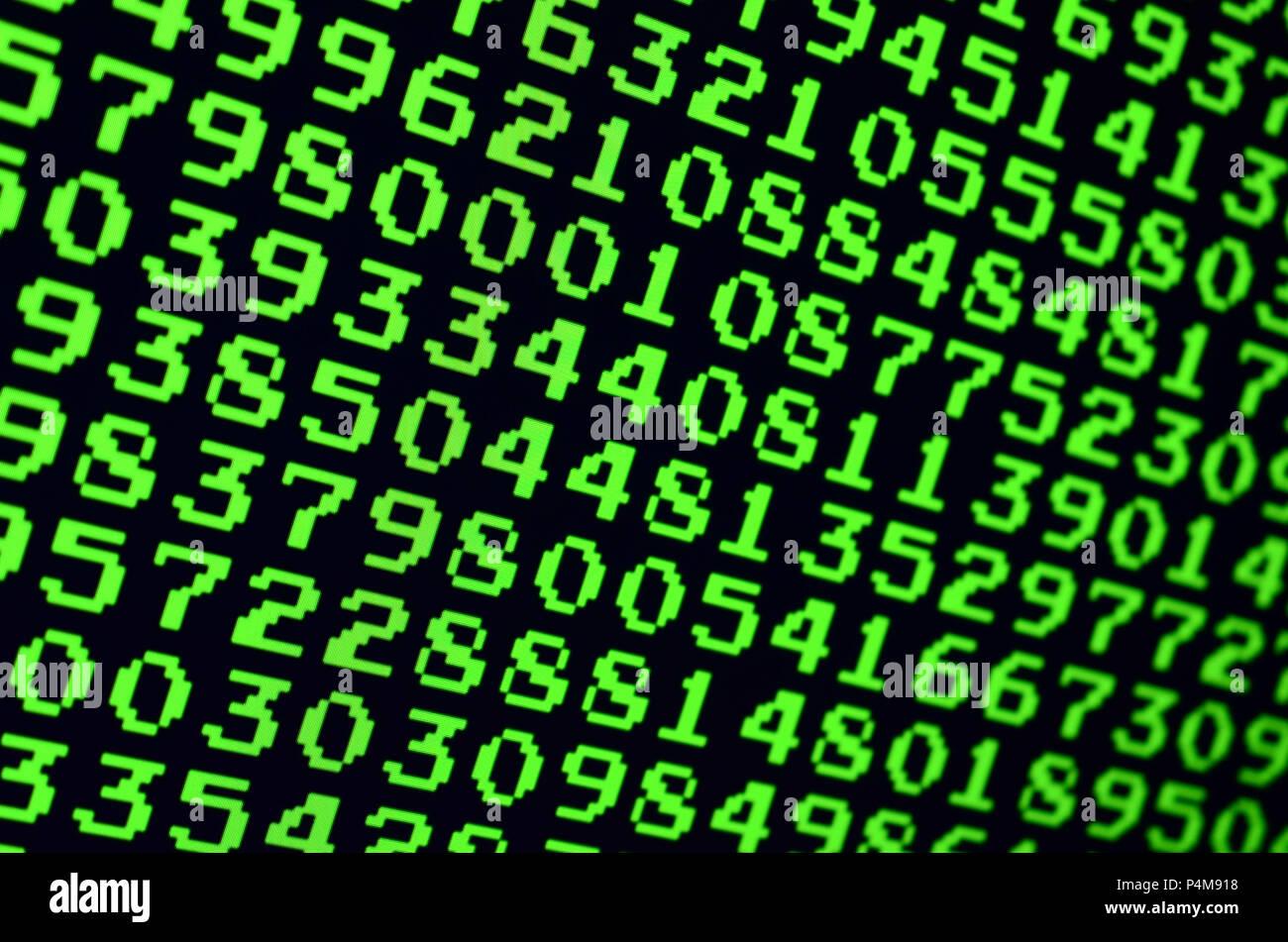 Makro von Passwort Auswahl am Monitor der Computer im Büro. Das Konzept von Hacking der Schutz der persönlichen Daten. Der Strom der-Support Stockfoto