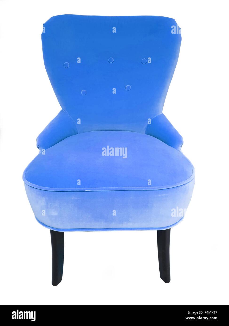 Blaue Farbe Stuhl Designer Komfort Weich Und Moderne Sessel Samt