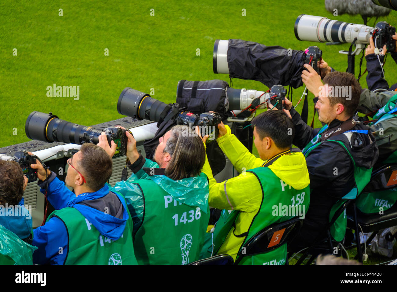 Fussball Fotografen Auf Das Match Zwischen Serbien Und Der