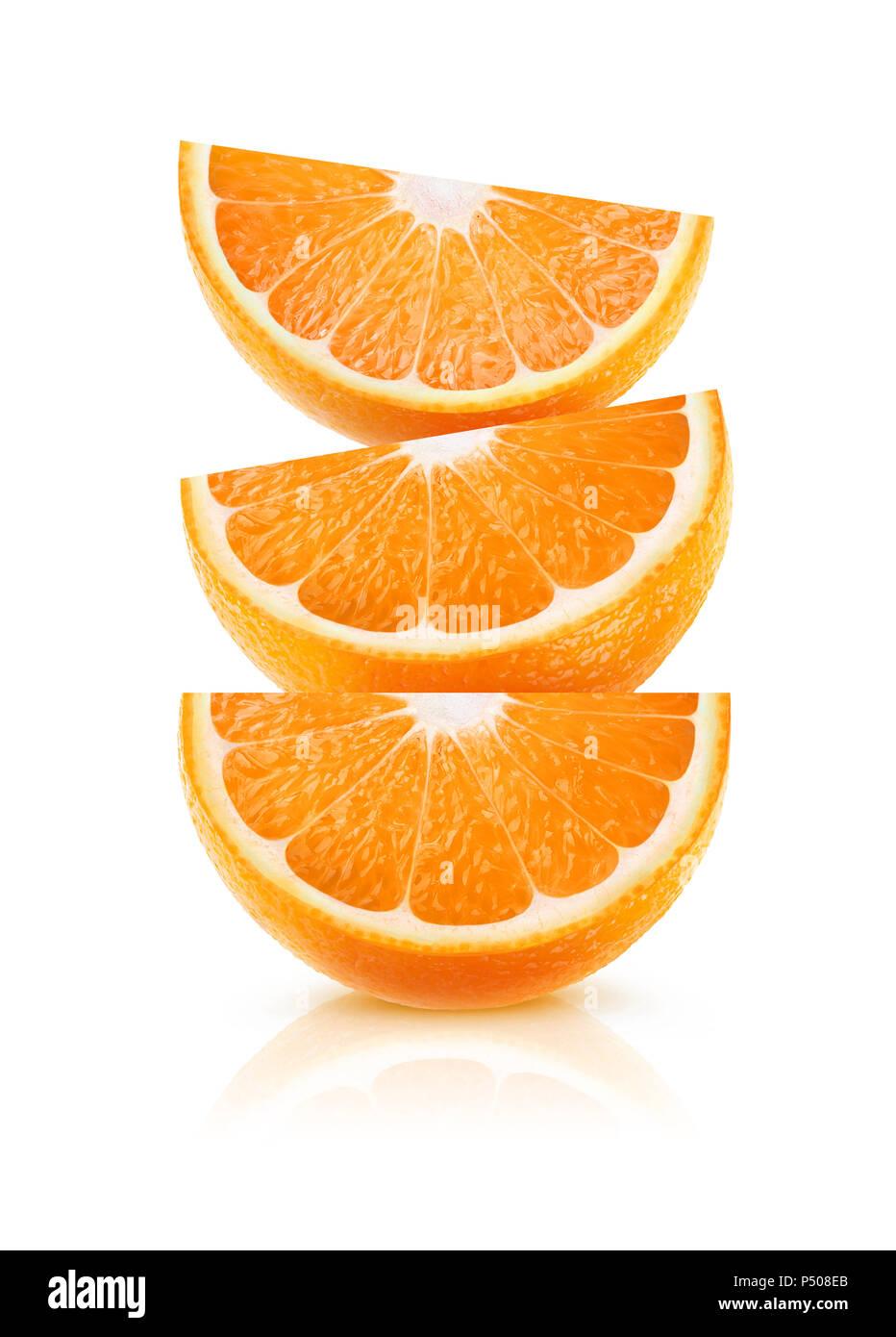 Orange Wedge Cut Out Food Stockfotos Orange Wedge Cut Out Food
