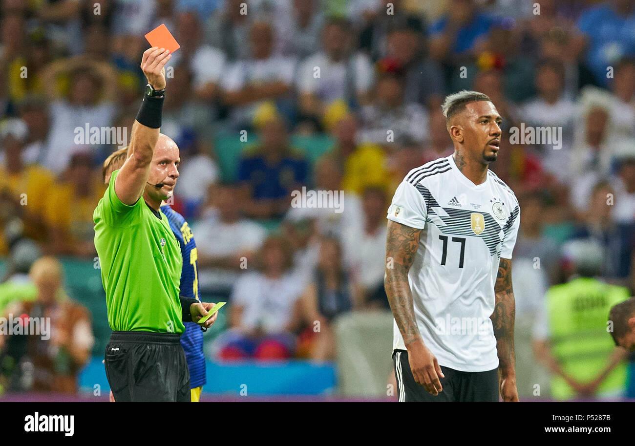 Rote Karte Wm 2018.Deutschland Schweden Fußball Sotschi Juni 23 2018