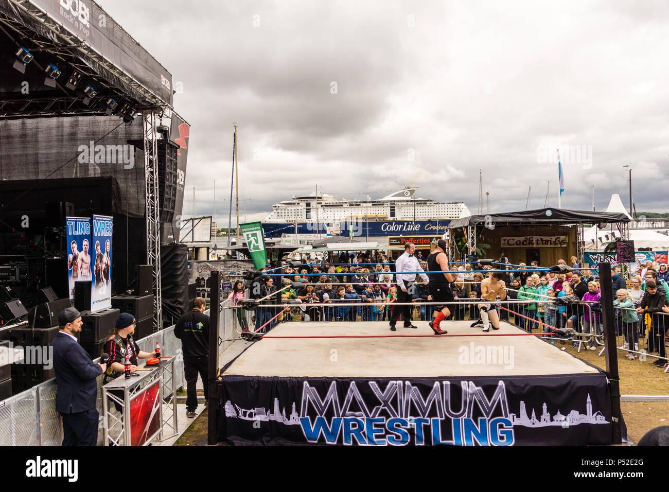 Kiel Deutschland 24 Juni 2018 Maximale Wrestling Außerhalb Im