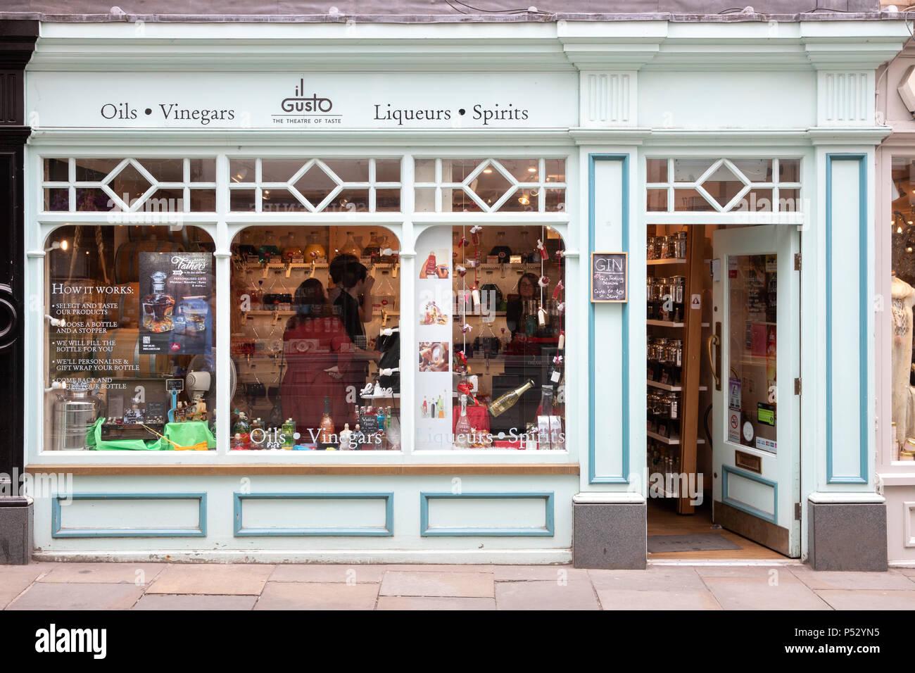 Il Gusto store in York, Großbritannien Stockbild