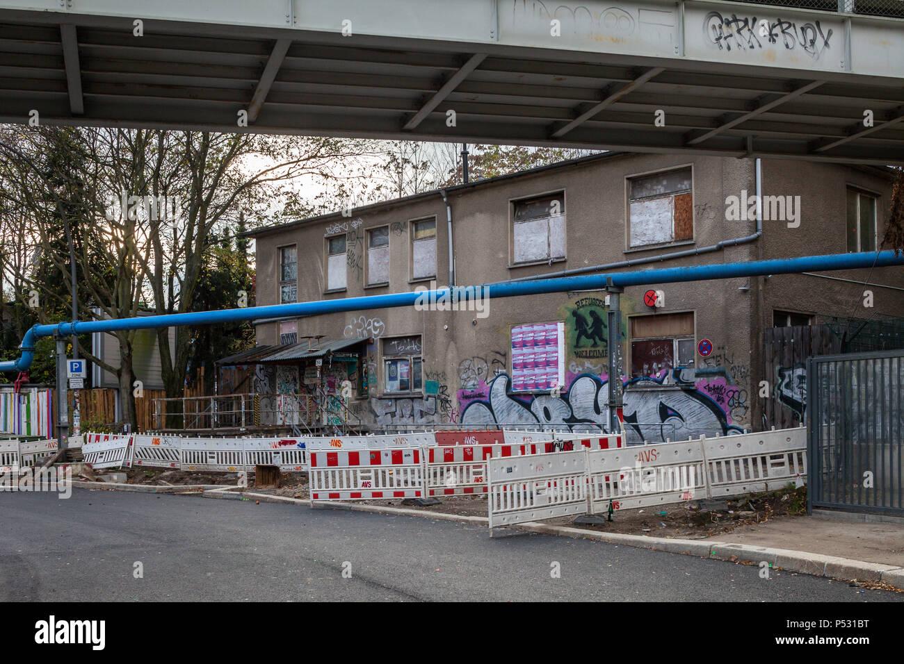 Berlin, Deutschland, Club über die Leere auf dem Markgrafendamm in ...