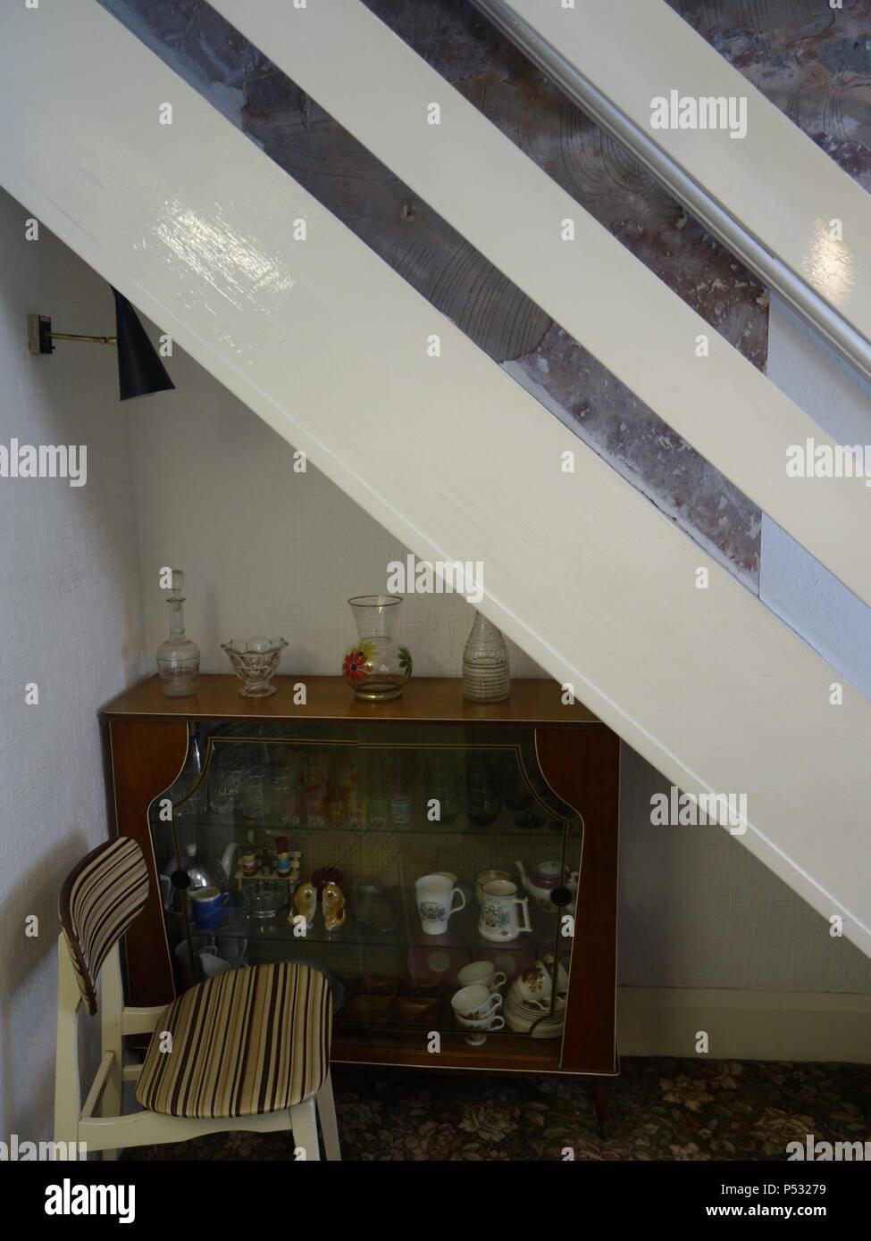 Vintage Zimmer einrichten als 1969 Time Capsule Stockfoto, Bild ...