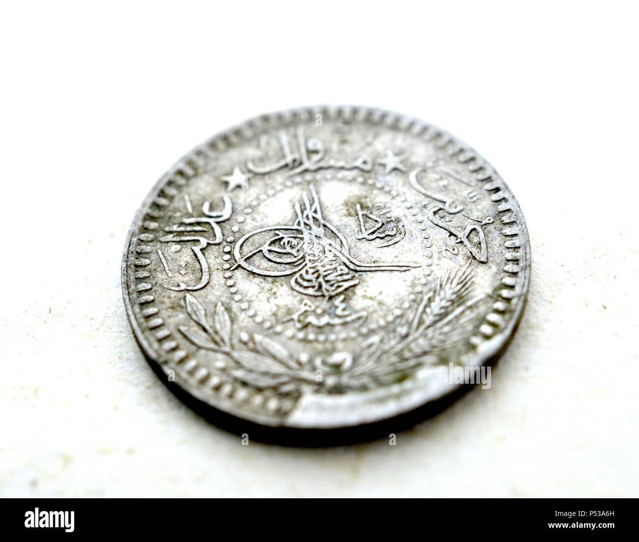 Alt Dreckig Münze Aus Dem Osmanischen Reich Bild Einer Stockfoto