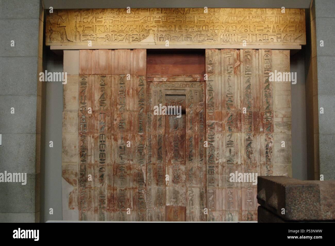 Kalkstein Falsche Tur Der Ptahshepses Die Platten Verkleidet Auf