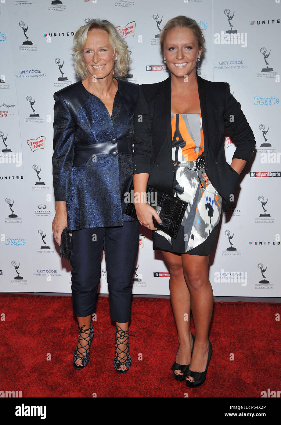 Glenn Close Und Tochter Annie 62th Emmy Awards Nominierten Empfang