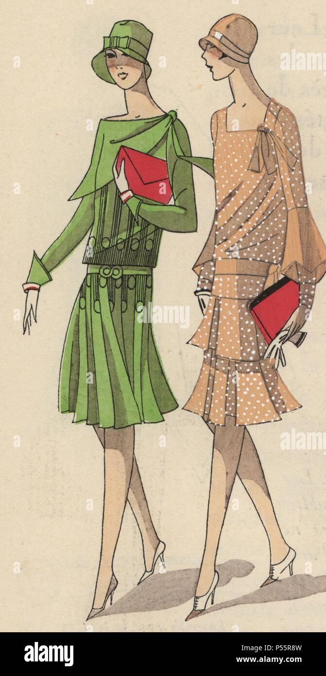 more photos 4a204 1e864 Frau in Grün Krepp nachmittag Kleid mit einem scharlachroten ...