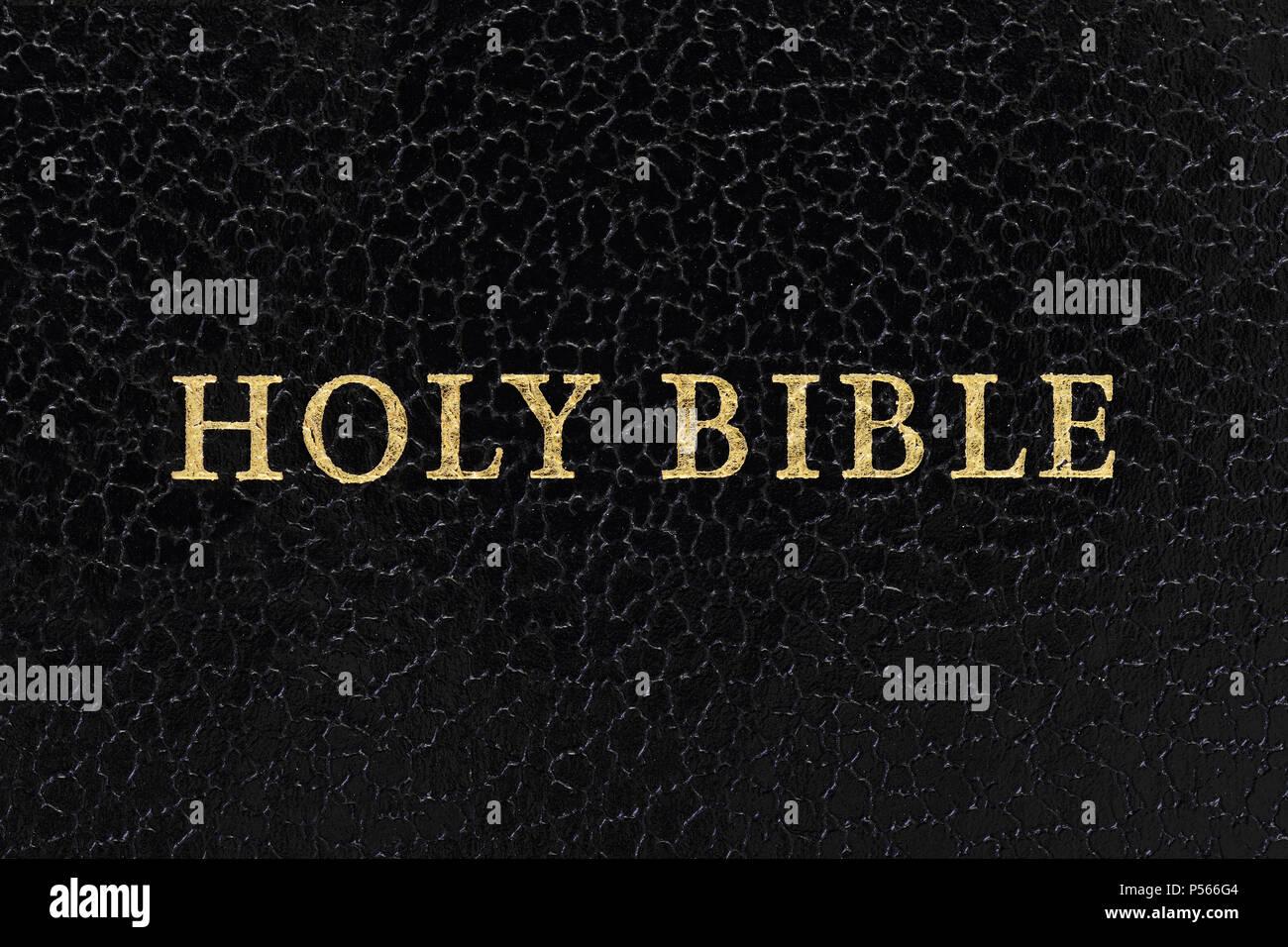 Die Bibel, Nahaufnahme Stockbild
