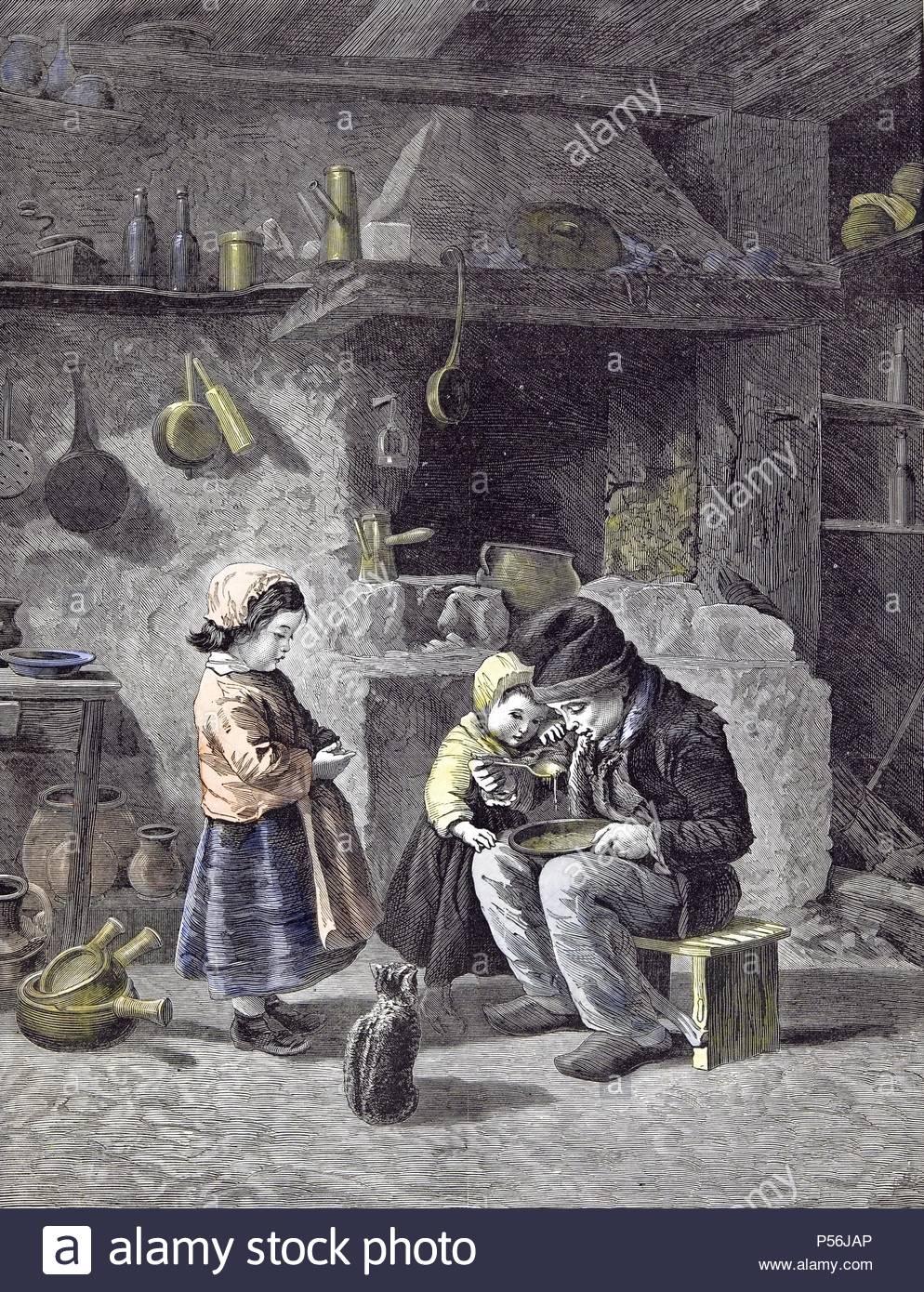 Fruhstuck Kinder Kuche Katze 1877 Kinder Topfe Pfannen Eine